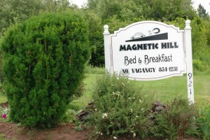 Magnetic Hill B&B Sign