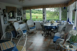 The Sunroom where a full breakfast is served every day